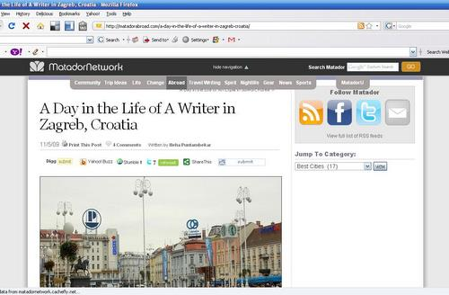 The Life of a Writer in Zagreb, Croatia